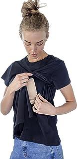 Bubi & Co. Blusa/Camiseta de Lactancia, Maternidad, Embarazo para Mujer con Capa y Apertura Frontal. Ropa, Regalo de mamá...