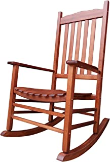 Rocking Rocker - A001NT Natural Wood Porch Rocker/Rocking Chair - Easy to Assemble - Comfortable Size - Outdoor or Indoor Use