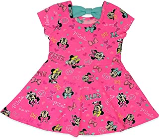 Disney Minnie Mouse Toddler Girls All-Over Print Ruffle Dress