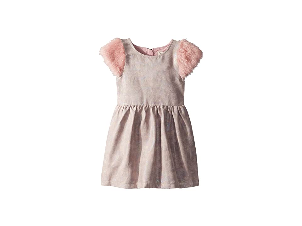 Appaman Kids Shimmer Faux Leather and Fur Fleur Dress (Toddler/Little Kids/Big Kids) (Rose Quartz) Girl