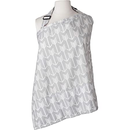 Kids N' Such Baby Nursing Cover for Breastfeeding with Sewn-in Burp Cloth & Matching Pouch, Arrow