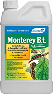 Monterey LG 6336 Bacillus Thuringiensis (B.t.) Worm & Caterpillar Killer Insecticide/Pesticide Treatment Concentrate, 32 oz, 32 oz