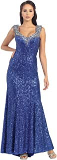 US Fairytailes Prom Sequins Long Dress Formal Gown #7209