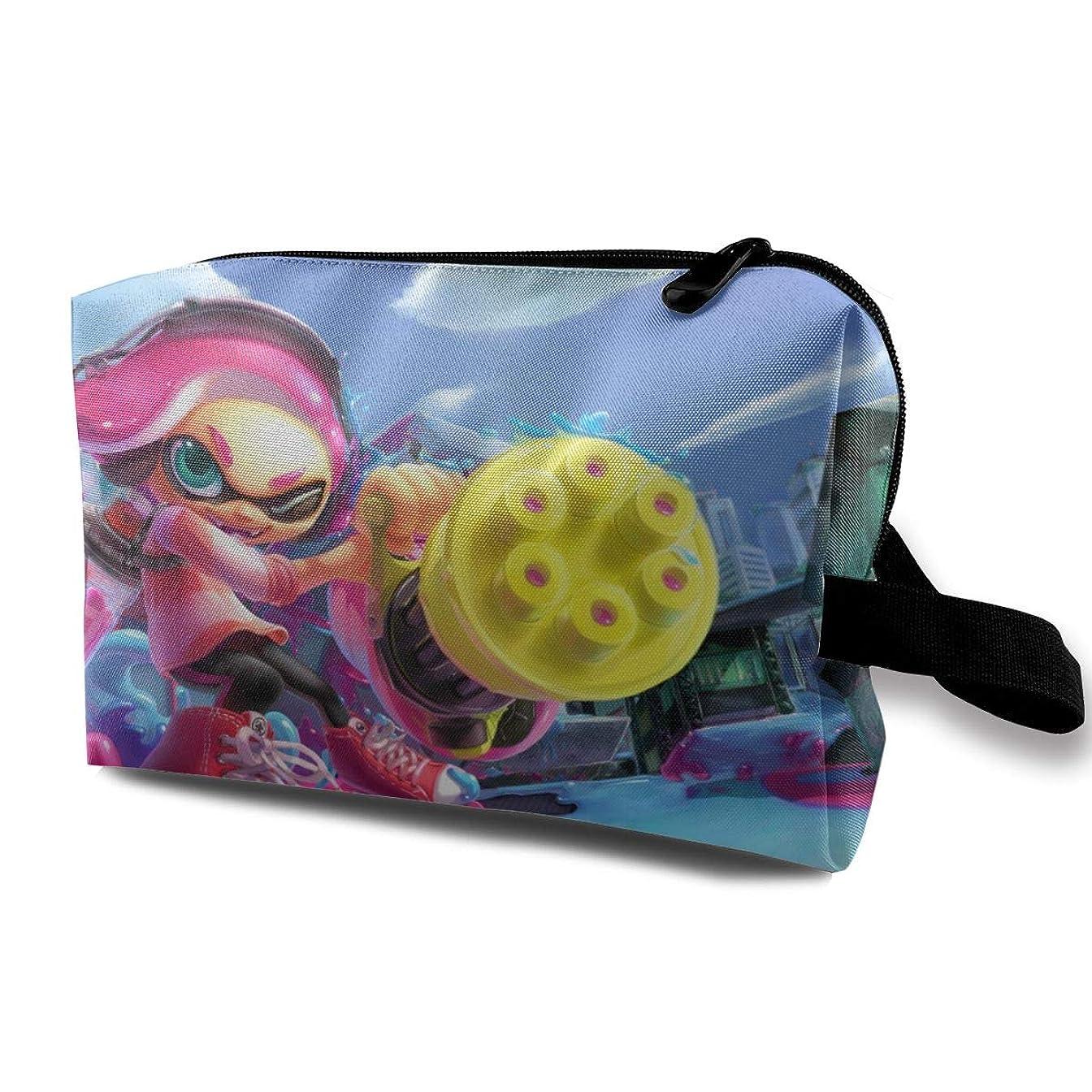 闘争佐賀濃度Joycego Splatoon 2 スプラトゥーン2 ポーチ バッグ メンズ 化粧ポーチ ジッパー付きポータブル トラベルポーチ 旅行 防水