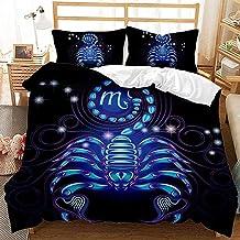 Parure de lit 3D avec Housse de Couette et taie d'oreiller Parure de lit avec Housse de Couette en Constellation Taille (2...
