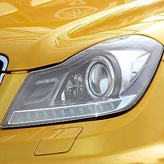 NCUIXZHAdesivo de decalque transparente TPU transparente para farol de carro de 2 peças, para acessórios Mercedes Benz C ...