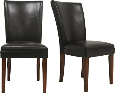 Metro Shop Tribecca Home Portman Faux Leather Parson Side Chairs