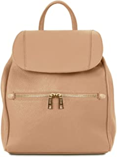 Tuscany Leather - TL Bag - Soft Leather Backpack for Women - TL141697  (Champagne) 249a9a7ddbe9c
