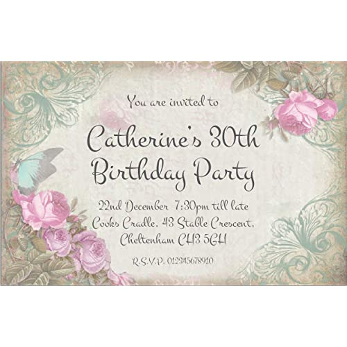 The Save Date People 50 PARTY INVITATIONS Personalised For You Butterfly Birthday Invites