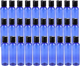 Bekith 30 Pack 4oz Plastic Squeeze Bottles with Disc Top Flip Cap, BPA-Free Blue Refillable Containers For Shampoo, Lotions, Liquid Body Soap, Creams and More