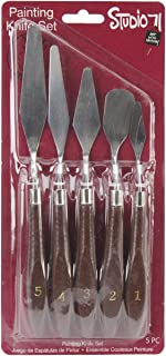 Darice 5 Pcs Artist Painting Palette Oil Paint Knives Spatula Set