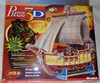 Puzz 3D - Pirate Ship - Glow in The Dark Puzzle