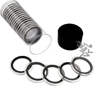 Black Lid Capsule Tube & 20 Air-Tite 32mm Black Ring Coin Holders for 1oz Gold Eagles