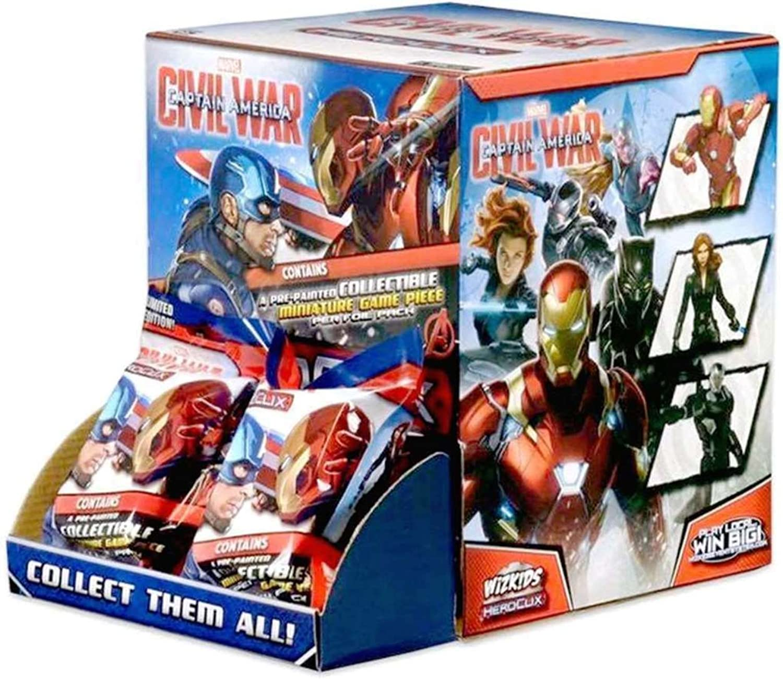 Marvel HeroClix  Captain America Civil War Movie Booster Box WZK 72271 by HeroClix
