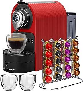 ChefWave Mini Espresso Machine - Nespresso Capsules Compatible - Programmable One-Touch 27 Oz. Water Tank, Premium Italian...