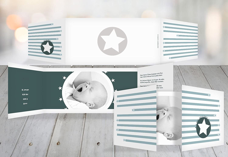 Kartenparadies Geburtskarte Babykarte a new star, hochwertige Babykarte Babykarte Babykarte zur Geburt inklusive Umschläge   10 Karten - (Format  215x105 mm) Farbe  Grüntürkisdunkel B01N9XMRA7   Bekannt für seine gute Qualität    Kaufen Sie online    Schönes 9e020d