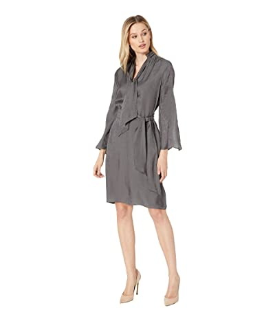 Kenneth Cole New York Lurex Twill Dress (Charcoal) Women