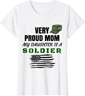 Very Proud Mom My Daughter Is A Soldier T-Shirt Black Print