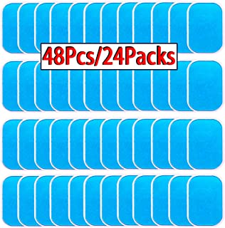 OHYAIAYN 48pcs Gel Sheets for Gel Pad, Abs Trainer Replacement Gel Sheet Abdominal Toning Belt Muscle Toner Ab Trainer Accessories (2pcs/Packs, 24packs/Box)
