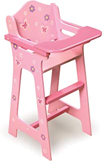 Badger Basket Blossoms and Butterflies Doll High Chair (fits American Girl Dolls)