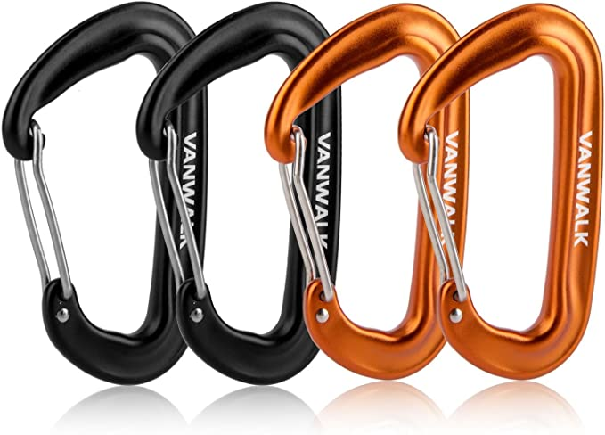 VANWALK Lightweight and Strong Aluminum Carabiner - Most Reliable and Potent