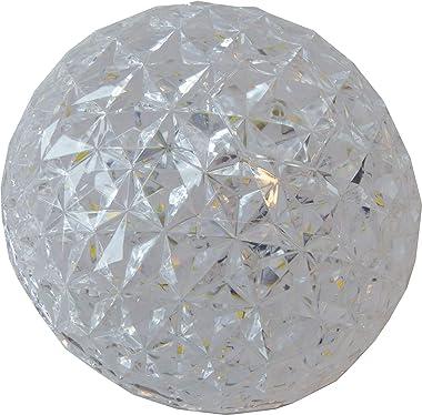 Plafonnier LED, (Ø12 cm 10 W 3000 K), plafonnier, rond, design classique, forme semi-sphérique, élégant et simple, diffuseur