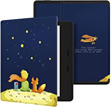 """Kindle Oasis Case (9th Generation, 2017 Release ONLY),CoWalkers Slim Lightweight Premium PU Leather Case with Auto Wake/Sleep Cover Smart Shell for All-New Amazon Kindle Oasis 7"""" E-reader (Boy and Fox)"""