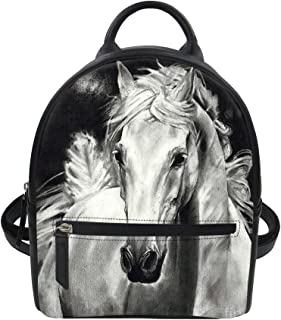 Cool Black Skull Travel Mini PU Leather Backpack Purses and Handbags Women Kids Girls Lightweight