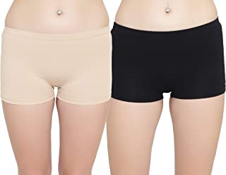Leading Lady Women's Cotton Boy Shorts (Pack of 2)