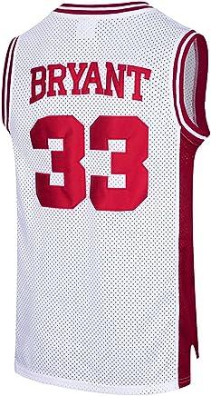 412320073b6 RAAVIN Mens  33 High School Basketball Jersey Bryant Basketball Jersey S- XXXL