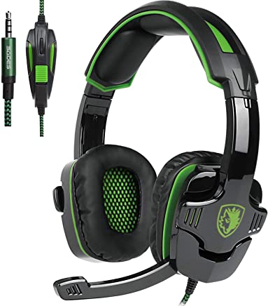 Sades SA930 Cuffia Gaming Con Suono Surround Microfono Deep Bass Controllo del Volume 3.5MM Stereo Per PC/Nuovo Xbox One/PS4/Smartphones (Over ear, Nero&Verde) - Trova i prezzi più bassi