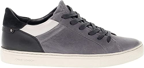 Crime London Hombre 11031A1730 gris negro Gamuza Hauszapatos