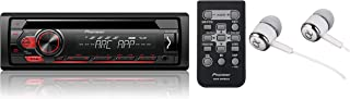 Pioneer Single DIN In-Dash CD/CD-R/RW, MP3/WMA/WAV AM/FM Front USB/Auxiliary Input MIXTRAX and ARC Support Car Stereo Receiver Detachable face plate with ALPHASONIK EARBUDS