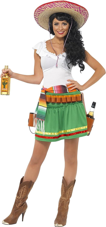 Luxury Pirates Mexican Senorita Costume for Women, XS, MultiColour