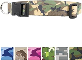 Buttonsmith Camo Dog Collar - Fadeproof Permanently Bonded Printing, Military Grade Rustproof Buckle, Resistant to Odors & Mildew, Choice of 5 Sizes, Made in The USA
