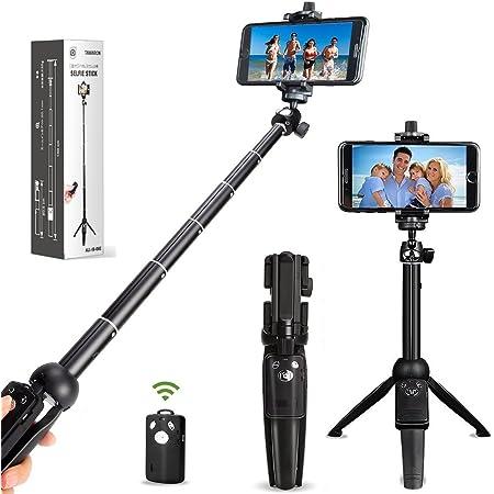 自撮り棒 三脚/一脚兼用 Bluetooth セルカ棒 360度回転 iPhone Androidスマホ等対応