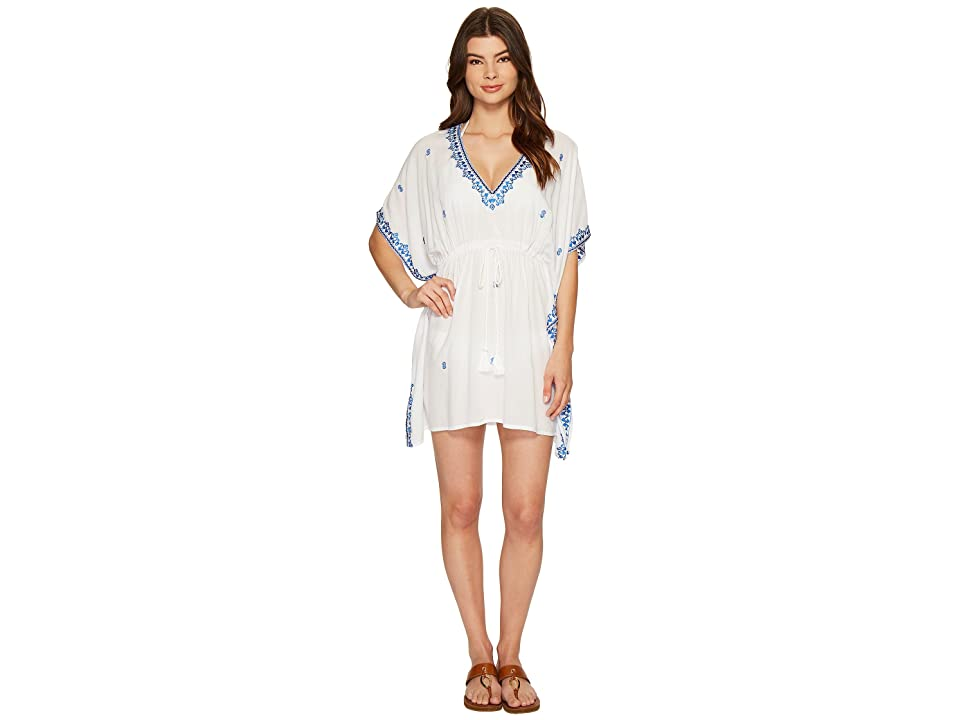 Tommy Bahama Embroidered Tunic Cover-Up (White) Women