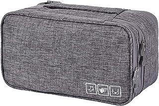 Gecheer Bra Underwear Storage Bag 3 Layers Travel Organizer Cosmetics Storage Bag for Cosmetics Toiletries Hotel Home Bath...