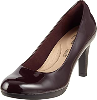 Clarks Women's Brown Leather Mary Jane Court Shoe Uk Size 5 At Any Cost Heels