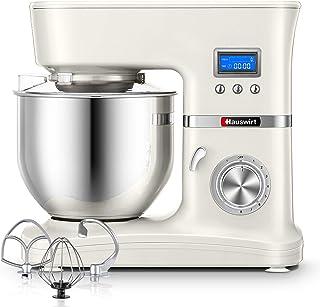 Hauswirt Küchenmaschine 1000W Rührmaschine mit LCD Bilderschirm, Knetmaschine..