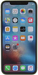 Apple iPhone X, Fully Unlocked, 64GB - Silver (Renewed)