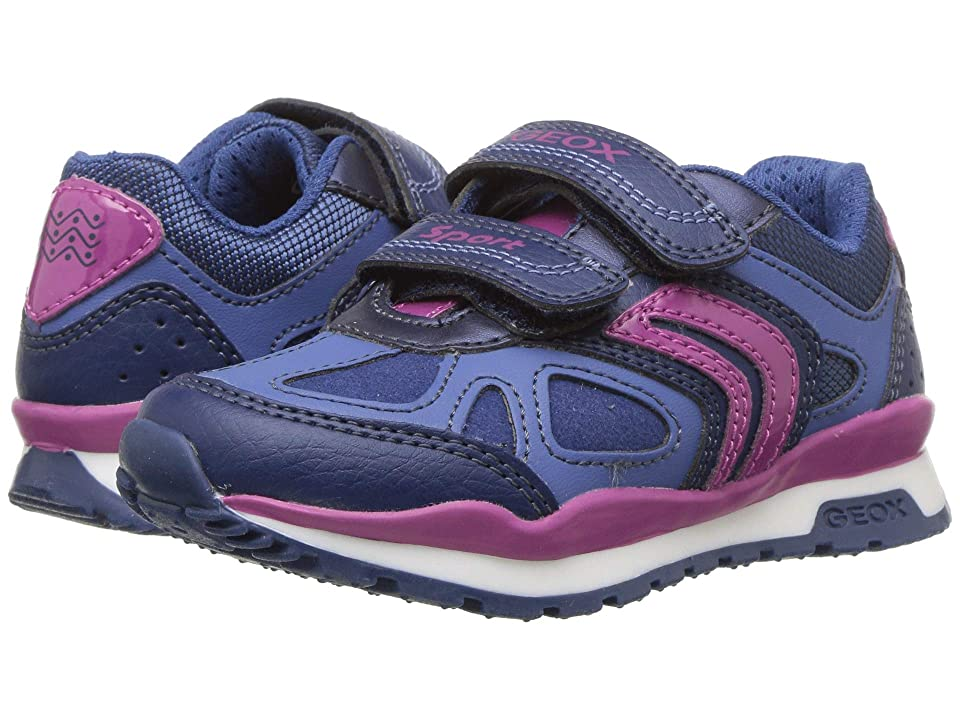 Geox Kids Pavel Girl 2 (Toddler/Little Kid) (Navy/Dark Fuchsia) Girl