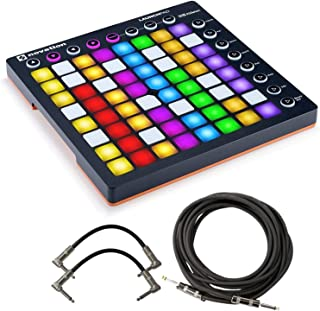 $119 Get Novation Launchpad MK2 64-Pad Grid Controller for Ableton Live - Bundled with 2 Patch Cables and Instrument Cable