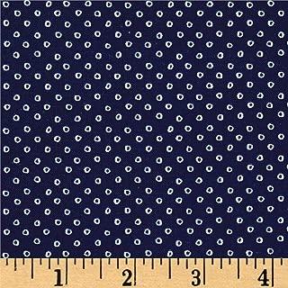 Cotton + Steel S.S. Bluebird Shibori Navy Fabric by The Yard