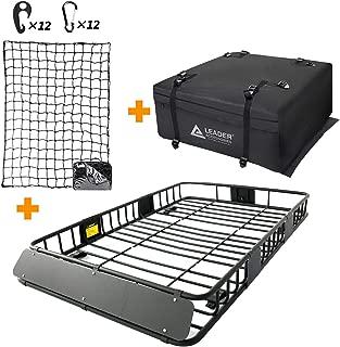 Leader Accessories Roof Rack Cargo Basket Set, Car Top Luggage Holder 64