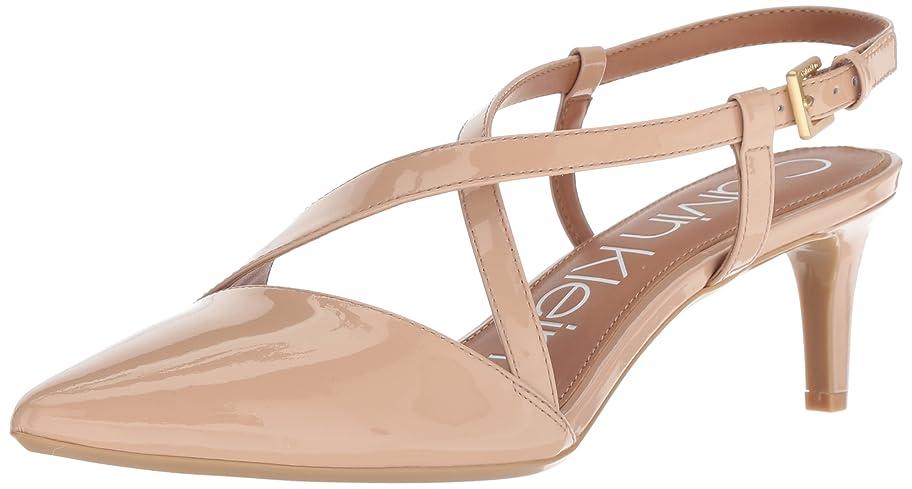 より平らな変換非行[Calvin Klein] レディース ポーラ(Paula) US サイズ: 7.5 B(M) US カラー: ベージュ