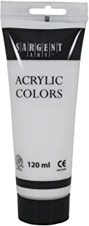 Sargent Art 23-0396 120Ml Tube Acrylic Paint, Titanium White
