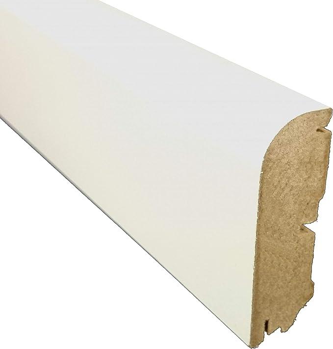 Laminatboden SockelleisteCastello Classic H/öhe: 58 mm Sie kaufen 1 St/ück mit 260 cm L/änge - Material: MDF mit Dekorfolie Tiefe: 19 mm Sockelleiste   260 cm, Walnut Piton