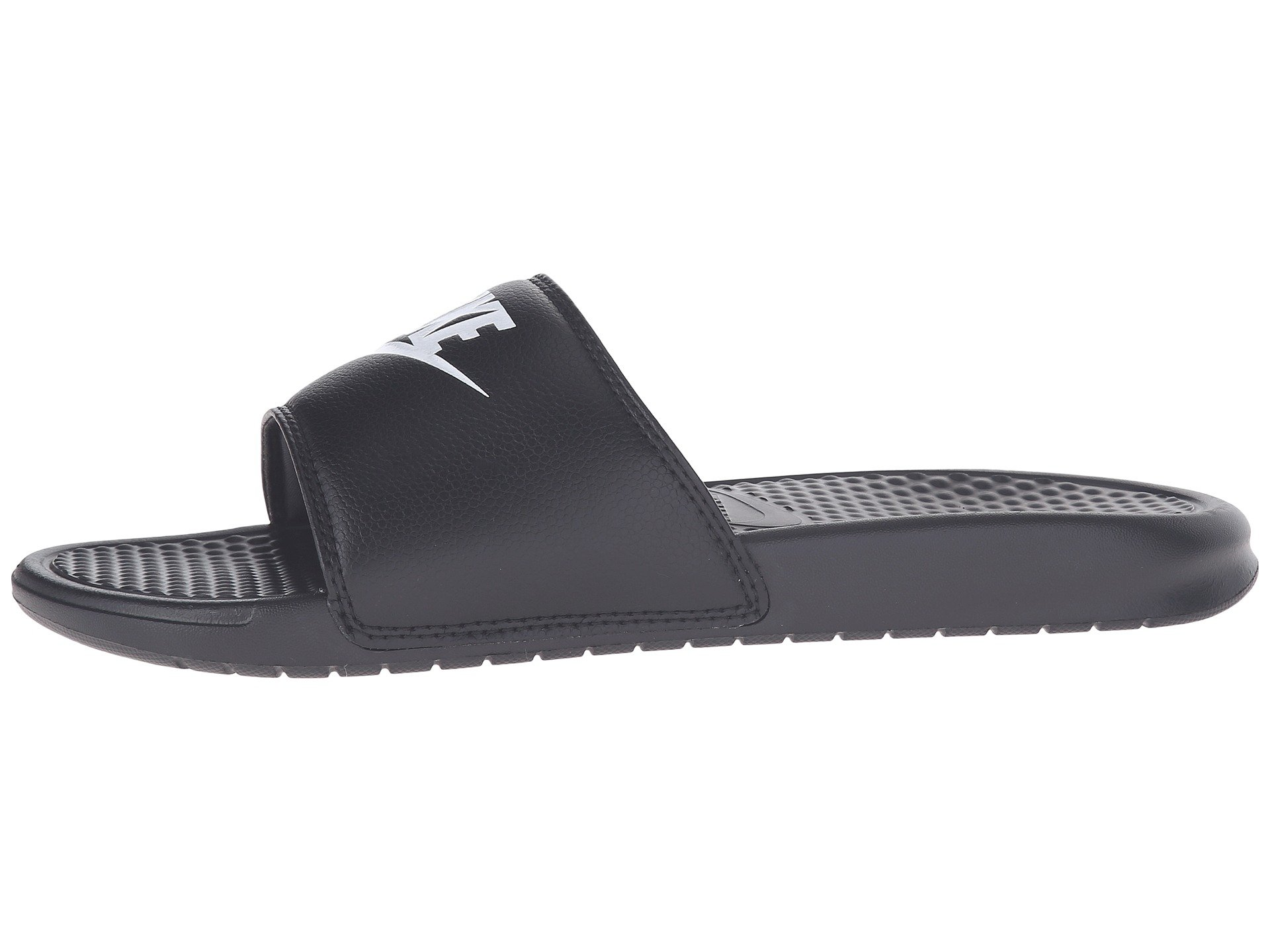 online retailer bc030 971b3 nike benassi jdi slides black and white