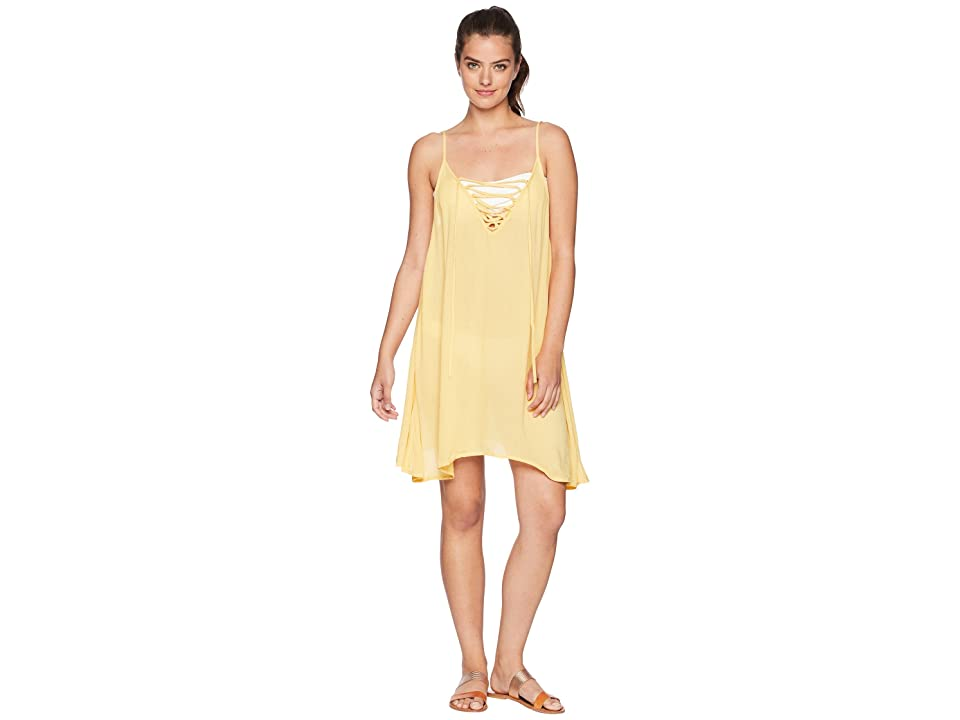 c9d14eee1e Roxy Softly Love Solid Dress Cover-Up (Buff Yellow) Women s Swimwear